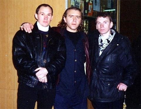 Слева: Валера Плохиш, Андрей Расписной и Вова Щавлик