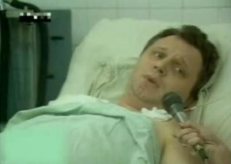 Юрий Беляев на больничной койке даёт интервью