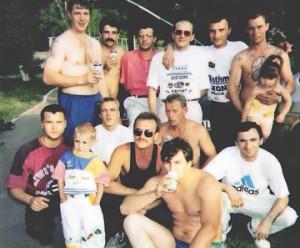 Кунцевские, 90-е годы. Рамаз Батумский в последнем ряду третий справа