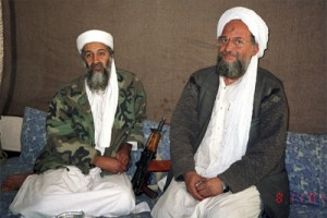 Усама бен Ладен и его «правая рука», египтянин Айман аз-Завахири