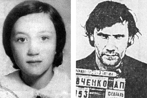 Первая жертва Елена Закотнова и осужденный Александр Кравченко