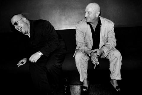 Криминальные авторитеты Бульдог и Дейв Кортни в лондонском баре Atlantic (фото)