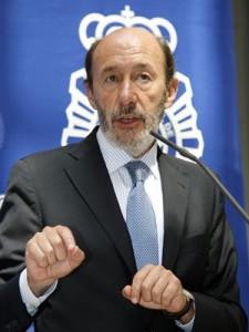 Министр внутренних дел Испании Альфредо Перес Рубалькаба