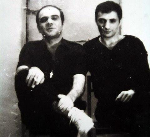 Слева воры в законе: Мирико Горгидзе и Бадри Дгебуадзе