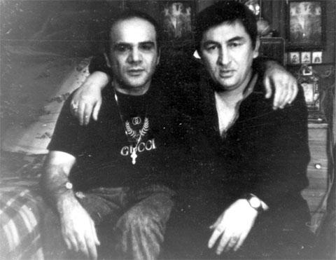 Слева воры в законе: Мирон Горгидзе (Мирико) и Датико Цихелашвили (Дато Ташкентский)