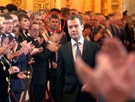 Сергей Цапок на инаугурации президента Дмитрия Медведева