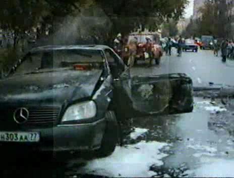 Мерседес Сильвестра после взрыва