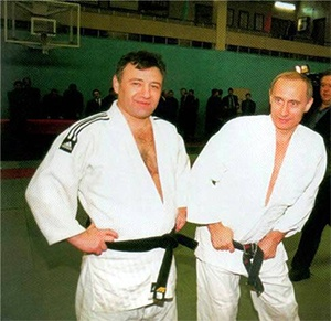 Аркадий Ротенберг и Владимир Путин