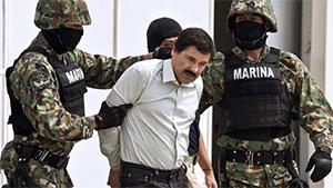 Хоакин Гуcман (Гузман), по кличке Эль Чапо во время ареста в феврале 2014 года