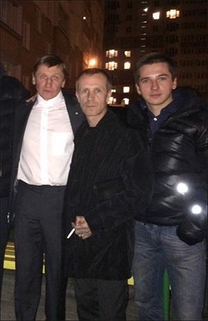 (слева направо) вор в законе Саша Кушнер, «смотрящий» за Беларусью Лукьян и «смотрящий» за Минском Шаленый
