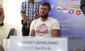 Сергей Коваленко на пресс-конференции в полиции Паттайи