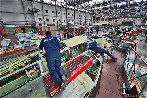Сборка Миг 31 на заводе