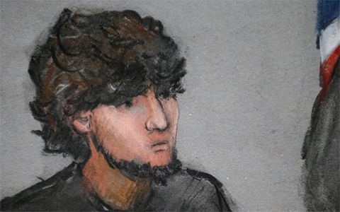Джохар Царнаев - зарисовка на судебном заседании