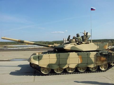 Российский модернизированный танк Т-90МС