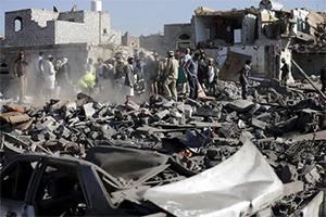 Военные объекты в Йемене подвергаются бомбардировке