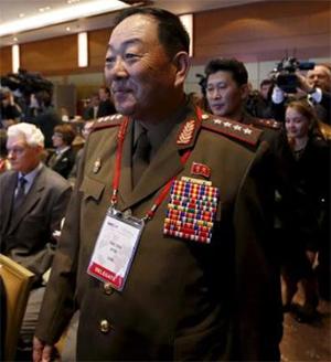 Командующий вооруженными силами КНДР Хен Ен Чоль на Московской конференции по международной безопасности (MCIS) 16 апреля 2015 года