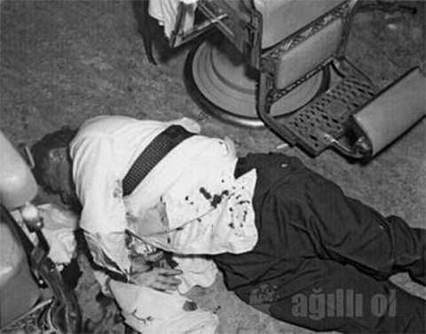 Место убийства Альберта Анастасии