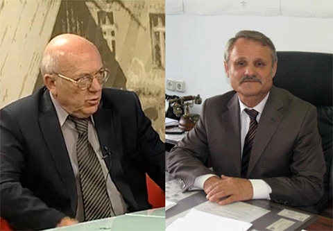 Первого заместителя главы Красногорска Юрия Караулова (cлева) и руководителя Красногорских электросетей Георгия Котляренко убили в своем рабочем кабинете.