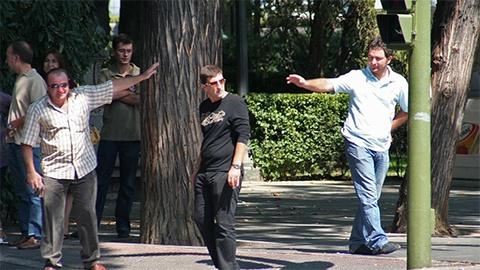 В центре: вор в законе Кахабер Шушанашвили в Испании