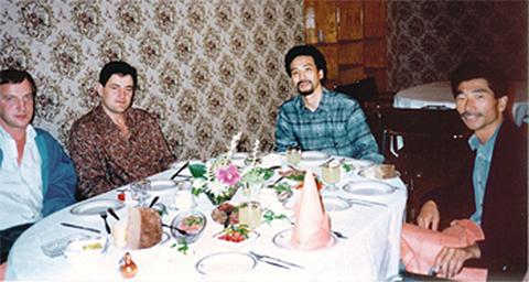 Слева направо: Геннадий Петров, Сергей Кузьмин, Иида Масамичи, Киничи Камиясу
