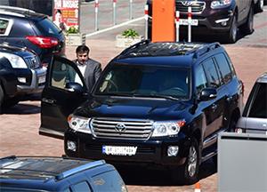 Угнанный джип Саакашвили