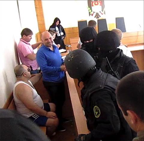 Москальчук в зале заседания суда сектора Центр
