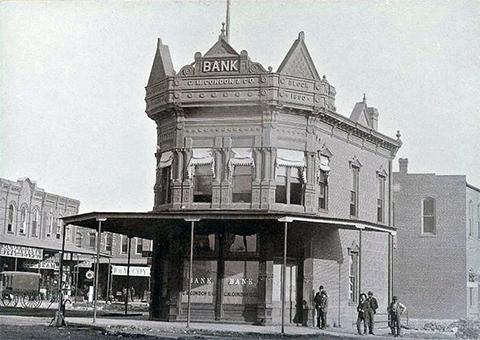 Банк в Коффейвилле, штат Канзас, ограбленный бандой Далтонов 5 октября 1892 г.
