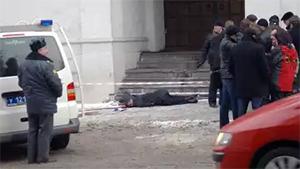 На месте убийства Станислава Маркелова