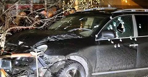 расстрел авто на трассе