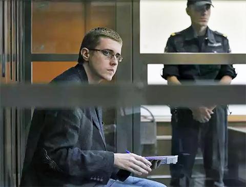 Илья Горячев в суде