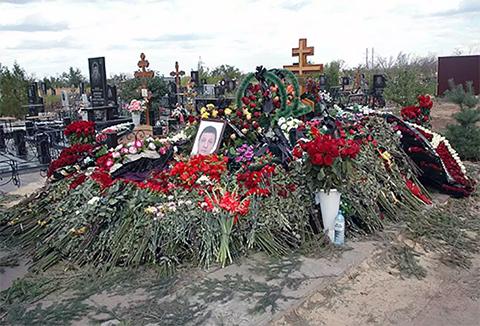 Могила Владимира Кадина