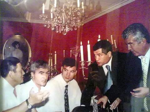 Слева: Гафур Рахимов, вор в законе Юлдаш Ашуров. Крайний справа Салим Абдувалиев