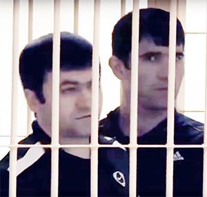 Вугар Гусейнов с участником своей банды на суде