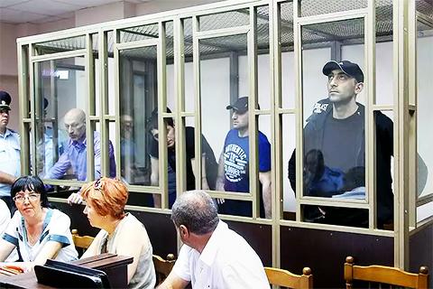 Участники ОПС Гагиева на суде