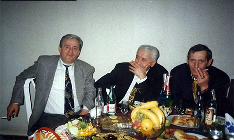 """Слева воры в законе: Владимир """"Мамуло"""" Джибладзе, Джемал Хачидзе и Зури Цинцадзе"""