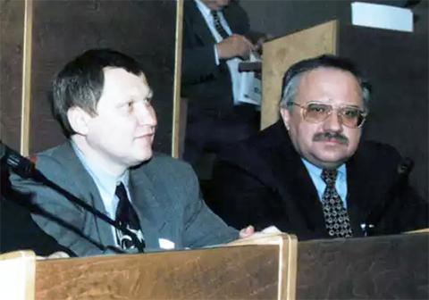 Слева: Михаил Глущенко и Вячеслав Шевченко в Государственной Думе