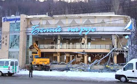 Кафе «Белый парус» после ареста Вагина было снесено по требованию администрации Нижнего Новгорода