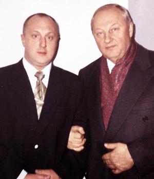 Слева: Аркадий Елизаров и Эдуард Россель