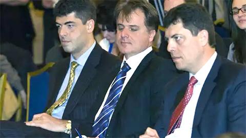 Слева: Георгий Велчев, Красимир Катев и Милен Велчев