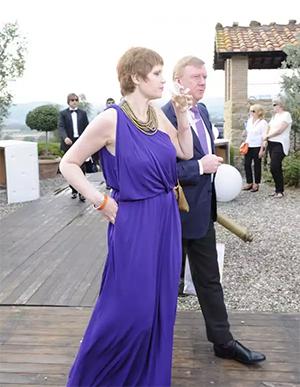 Чубайс с супругой на свадьбе сына министра Абызова на его роскошной итальянской вилле