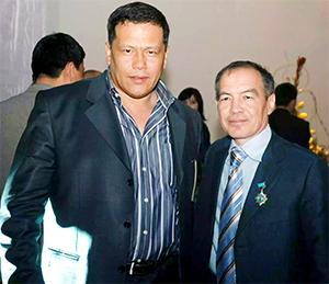 Слева: Назим Джумаев (Максим Бухарский) и Тохтар Тулешов