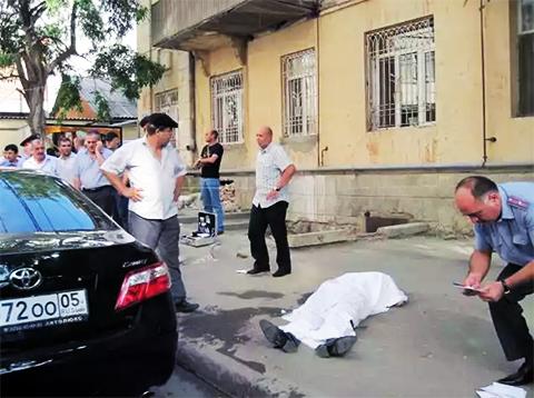 На месте убийства Ахмеда Магомедова