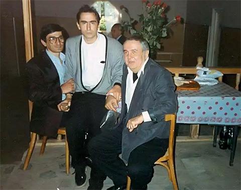 Слева воры в законе: Резо Гамцемлидзе (Гедемос Бичи), Паата Члаидзе (Паат Большой) и Джемал Шавладзе (Чай-Чай)