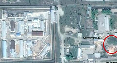 Так выглядит территория ИК-46. Красным кругом отмечена территория, где, скорее всего, находится особняк, построенный Чикиным
