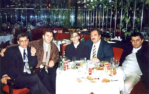Слева воры в законе: Герман Ложенцов (Гера Горьковский), Башир Нальгиев (Башир Слепой), Бадри Когуашвили, Элгуджа Кублашвили (Гижуа), Александр Хаширов (Хашир), 19.10.1996, Сочи