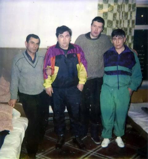 Слева направо воры в законе: Резо Гвинцадзе (Резо Батумский), Датико Цихелашвили (Дато Ташкентский), Андрей Трофимов (Трофа) и Николай Зыков (Коля Якутенок)