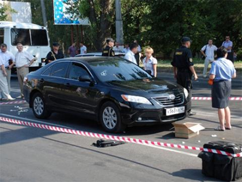 На месте убийства Украинцева
