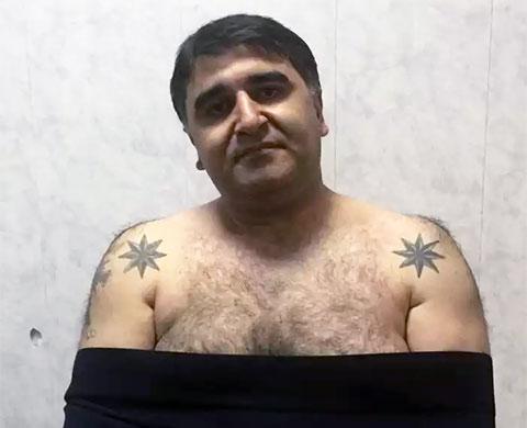 Вор в законе Нодар Алоян - Нодар Тбилисский с тюремной тату роза ветров