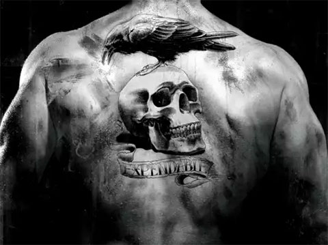 татуировки на спине мужские