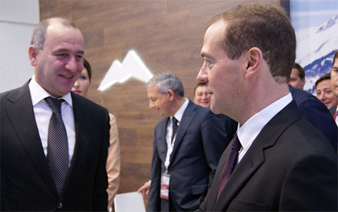 Дмитрий Медведев и Рашид Темрезов